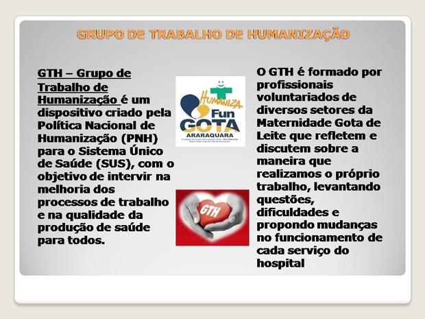 17 GRUPO DE TRABALHO DE HUMANIZACAO